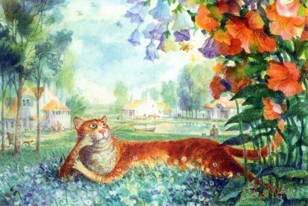 Кот и кошечка_ Первоапрельское настроение
