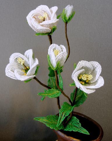 Красивые розы из бисера - Цветоводы.
