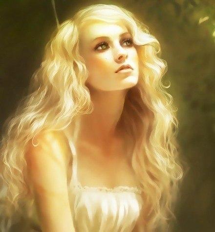 Красивая золотоволосая девушка 9