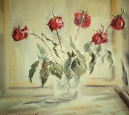 увядшие фото розы