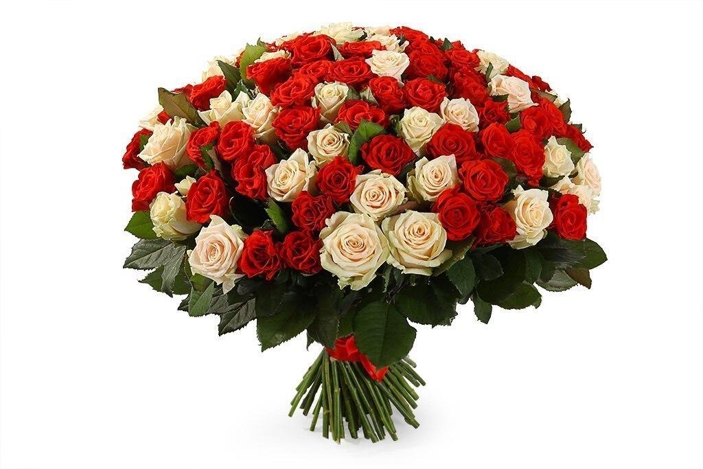 Открытка с большим букетом цветов на день рождения, великолепной