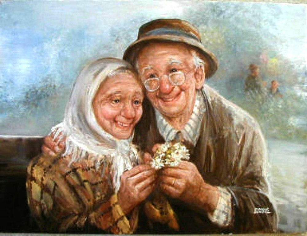 Открытки счастливые бабушка и дедушка, днем рождения