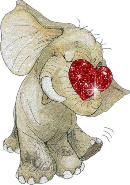 Надписью, слоник открытка