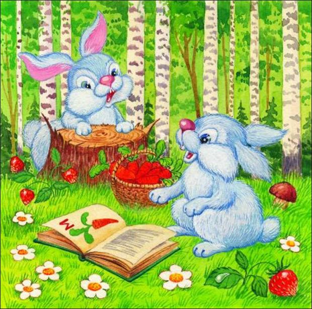 картинка заяц на полянке если