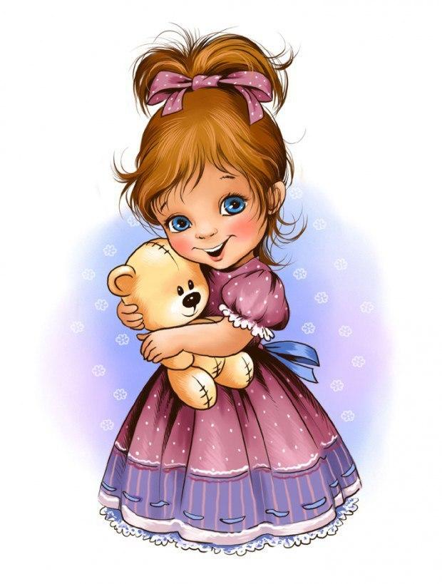 картинка мультяшная с куклами