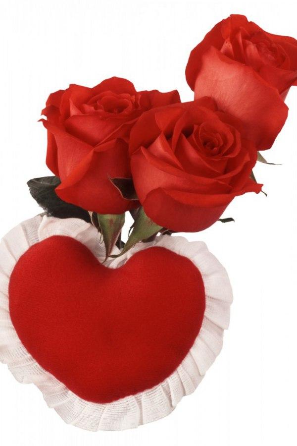 открытки сердечки и поцелуйчики с цветами своем желании быть