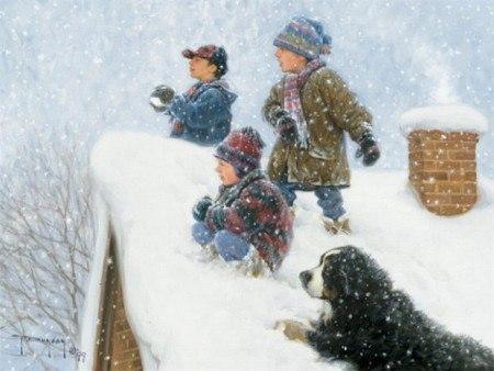 Стихи про игру в снежки