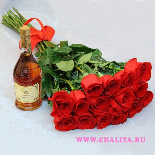 Цветы открытка для мужчины с