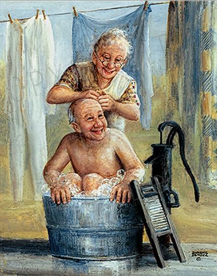 внучка моет деда в ванной бесплатно