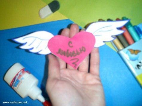 Валентинка сделанная своими руками картинки