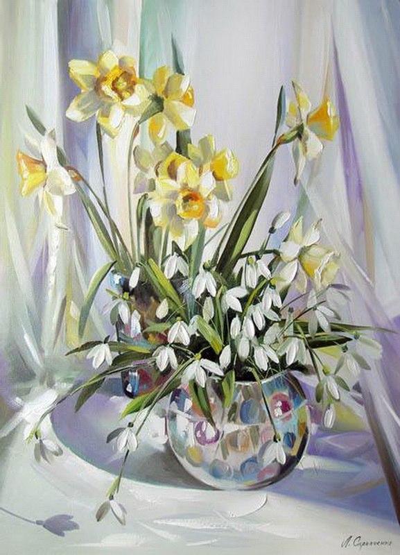 Весенние цветы картины