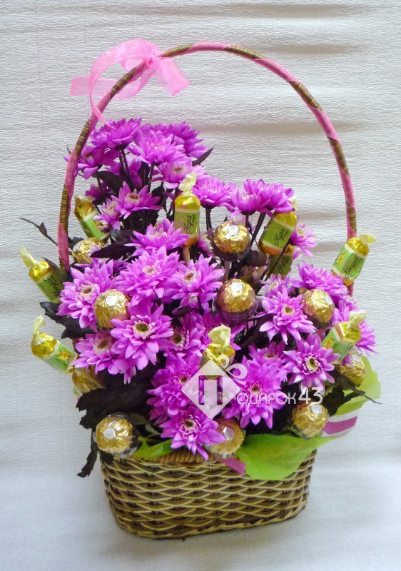 Букет своими руками и живых цветов