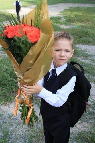 Цветы в первый класс фото