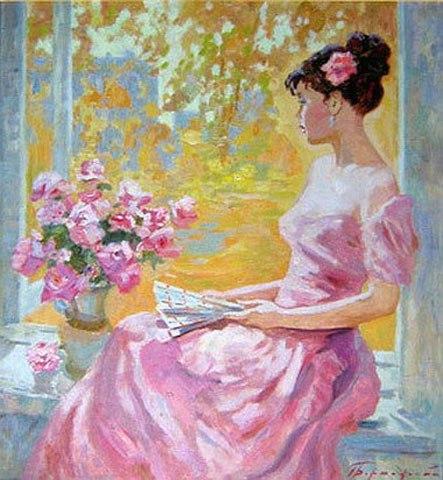 В платье розового цвета окуджава