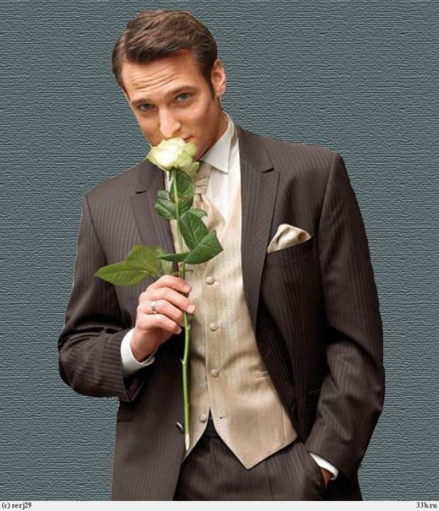 Качественные фотографии парень с цветами