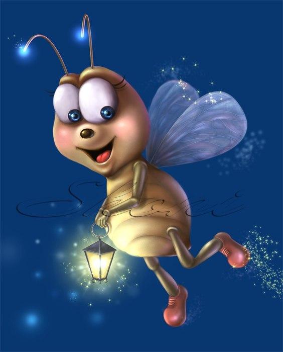 Картинки для детей светлячки