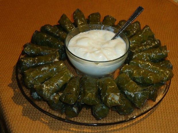 долма в виноградных листьях рецепт армянский фото