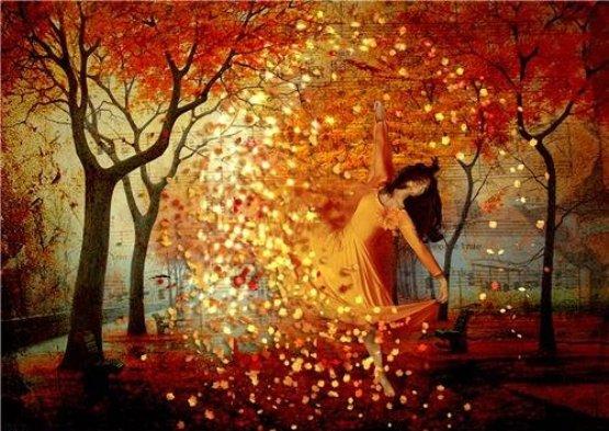 Сеет осень золотым листом