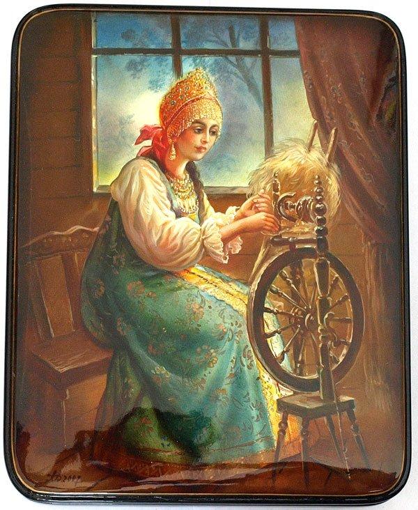 Картинка прялки с веретеном