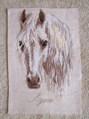 Лошадь луна вышивка схема