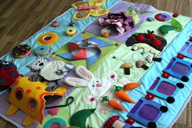 Развивающие детские коврики своими руками