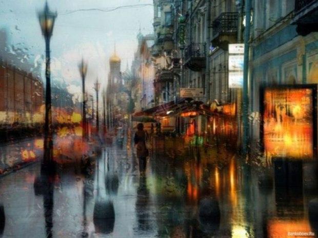 дождь в питере фото