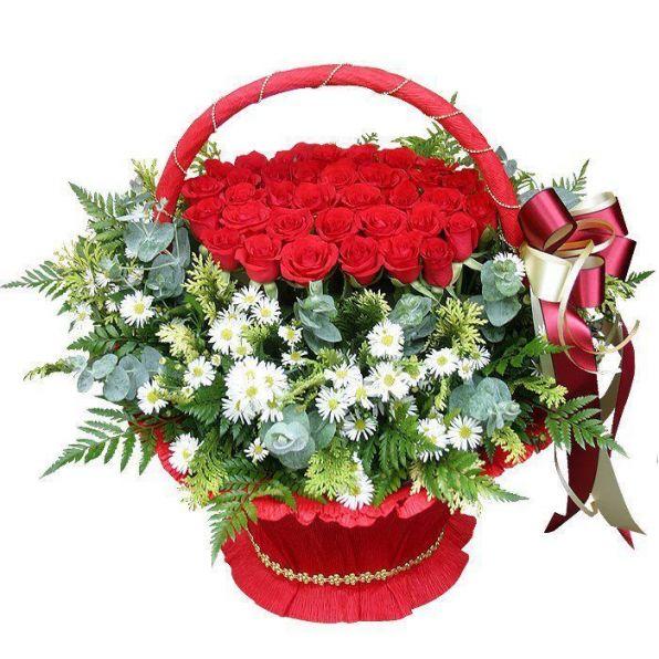 прямую картинки корзина цветов для тебя наши внуки