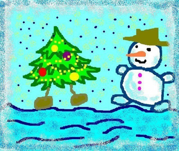 Для, нарисовать конкурс на новогоднюю открытку