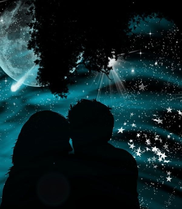 пара ночь звезды картинки футболку р-р символом