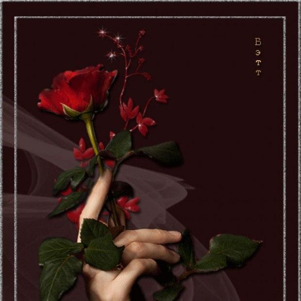 Картинки роза в руке мужские гиф, девушек