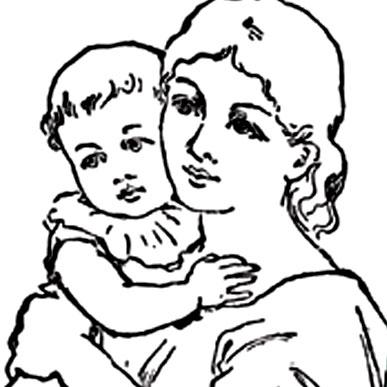 Одна только мама...