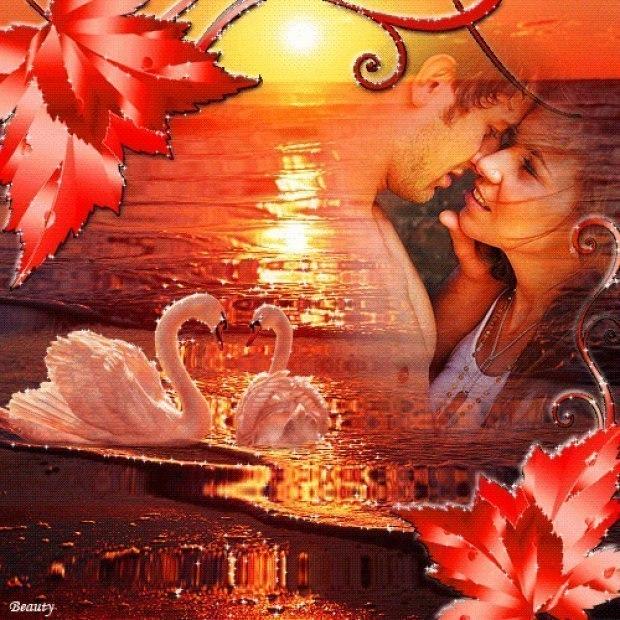 Картинки анимация про любовь он и она романтика, днем рождения смс