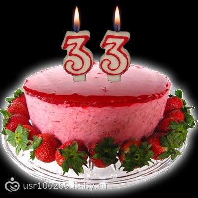 Поздравления с днём рождения мужчине в 33