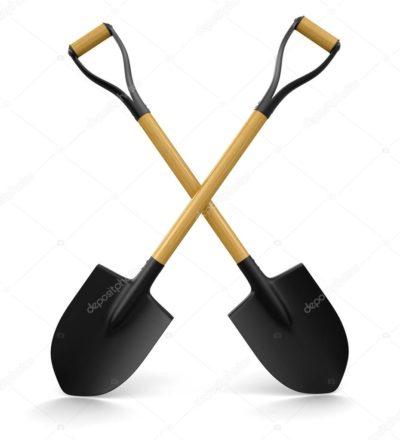 На фото: Две лопаты , автор: zakko2009