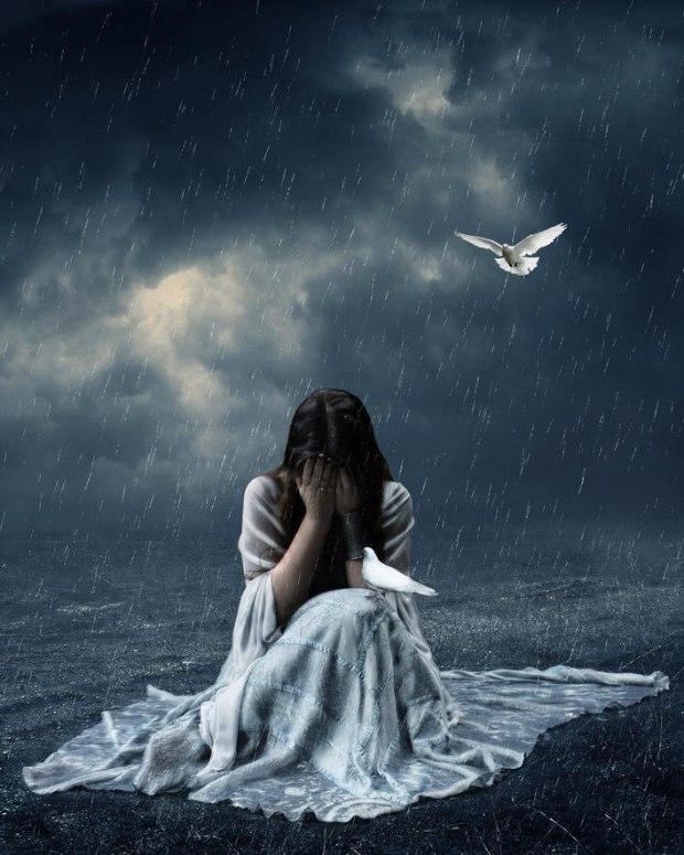 Картинки грустных ангелов