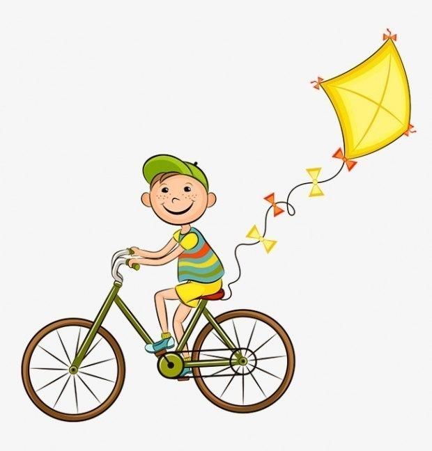 Картинки на велосипеде мультяшные