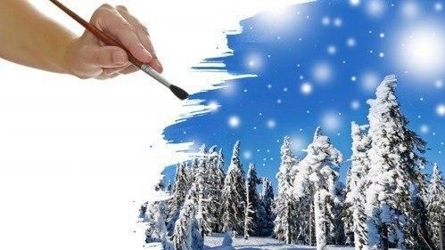 Рисую Ðимний свой пейÐаж
