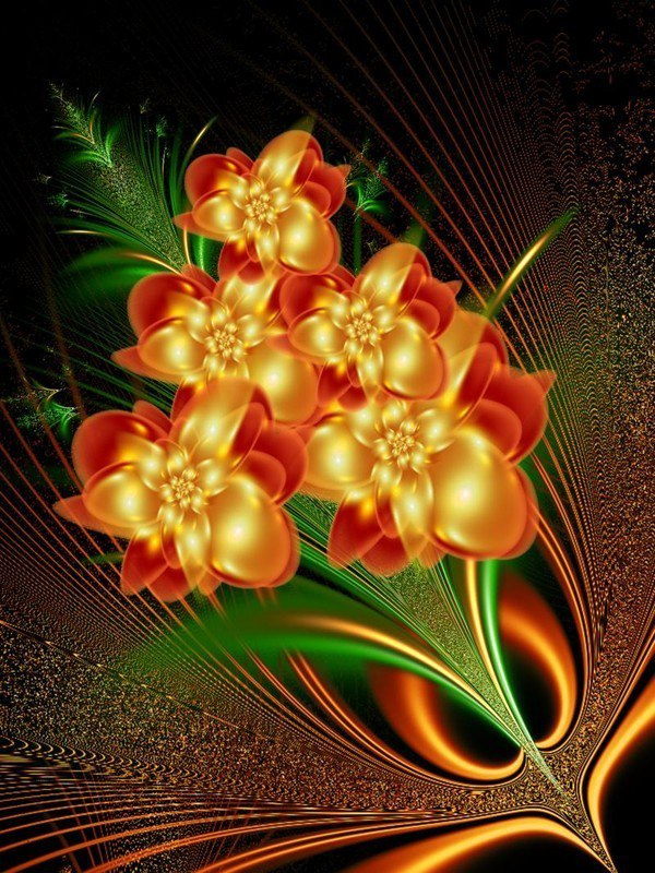 Открытки с переливающиеся цветы, открыток новый год