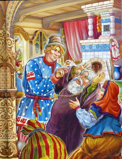 Новогодние картинки из сказок пушкина, открытка для натальи