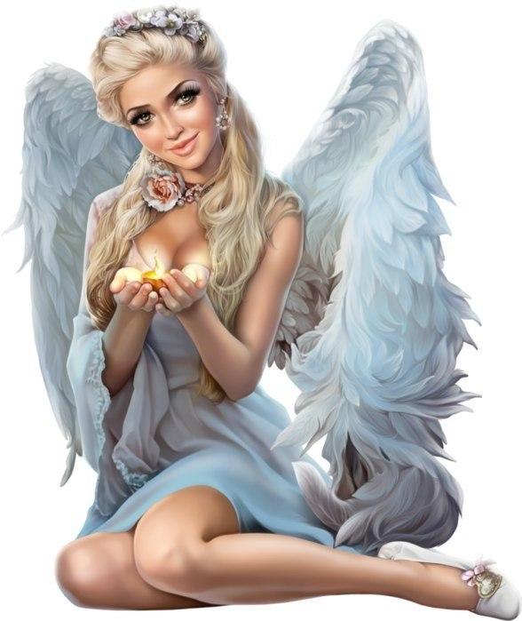 Ангелы девушки открытки, фиолетовые розы