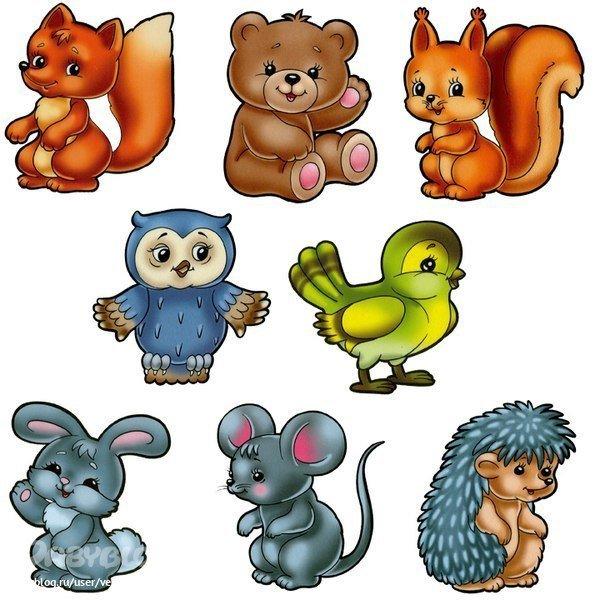 Марта, рисованные картинки животных для детей