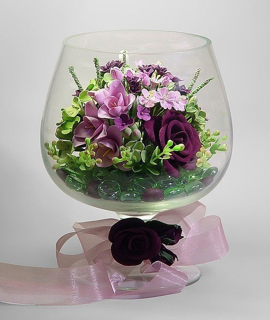 Цветы в стекле своими руками мастер класс
