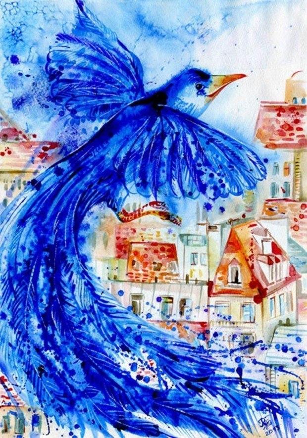 Картинки птицы счастья сказочные