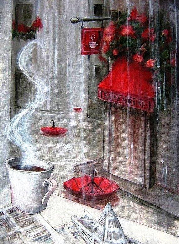 Доброе утро картинки с дождиком красивые с надписями