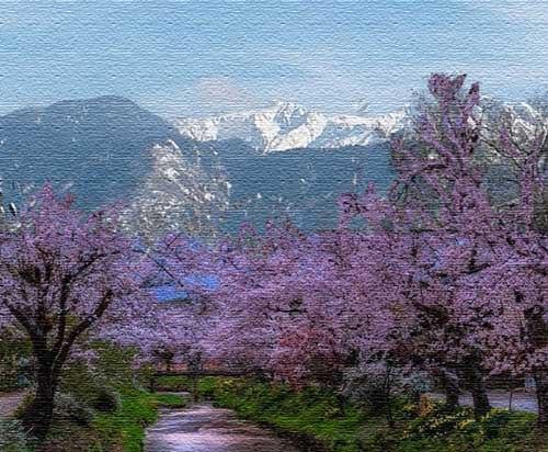 В саду цветущем живописно...Триолет