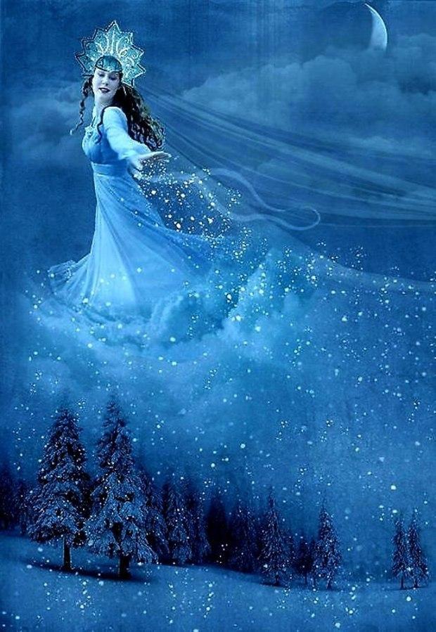 Созданные, открытка волшебница зима