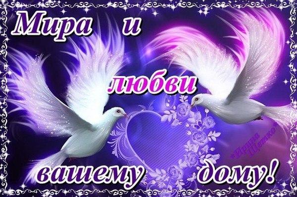 Мира и любви открытки