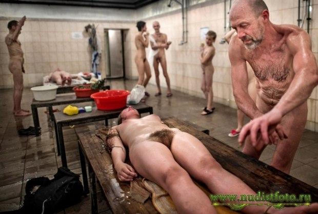 фото общей бане бабы мужики и в