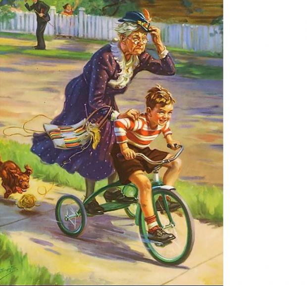 бабушка с внучками