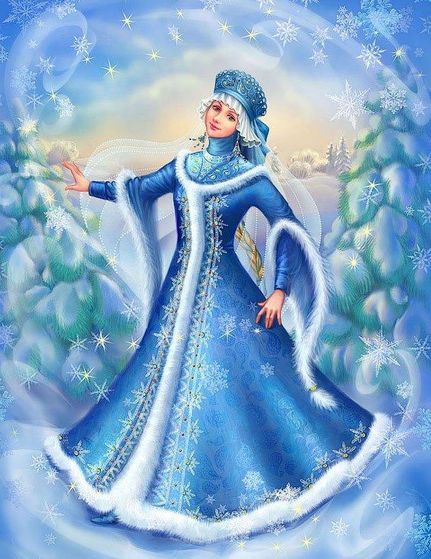 Картинка королевы зимы для детей